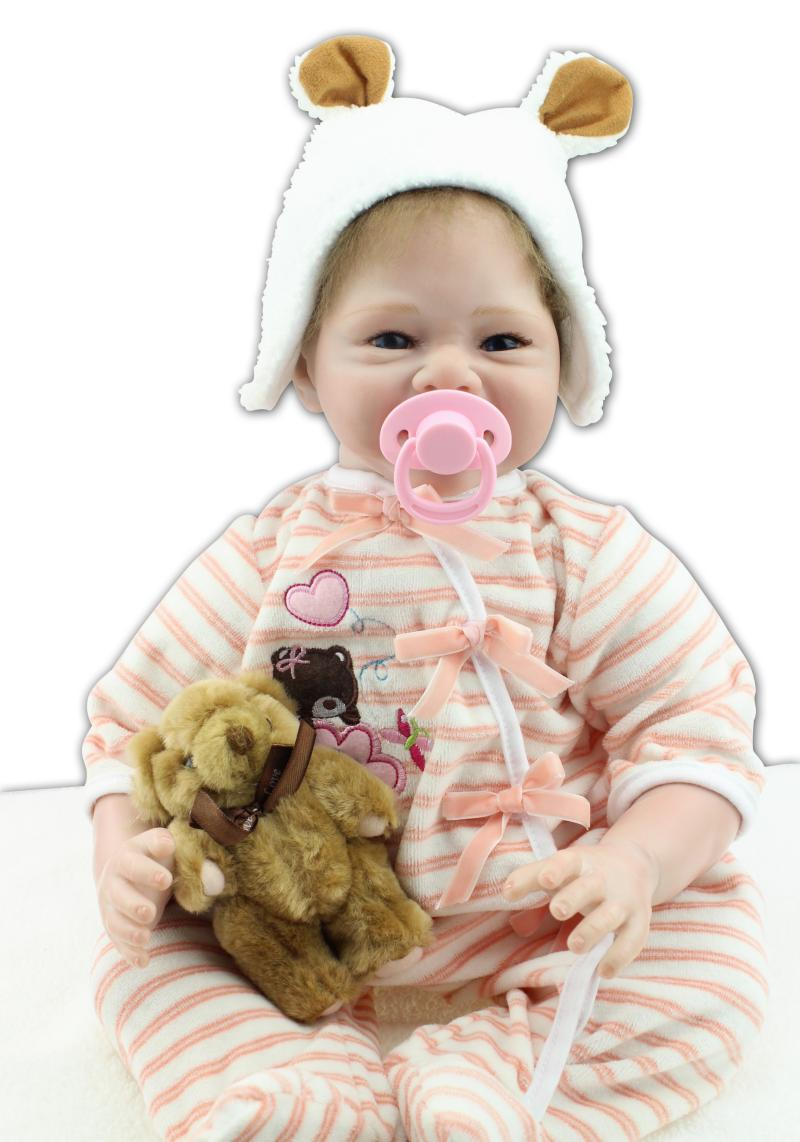 High Quality 55cm 22inch Real Baby Dolls Uk With Cloth