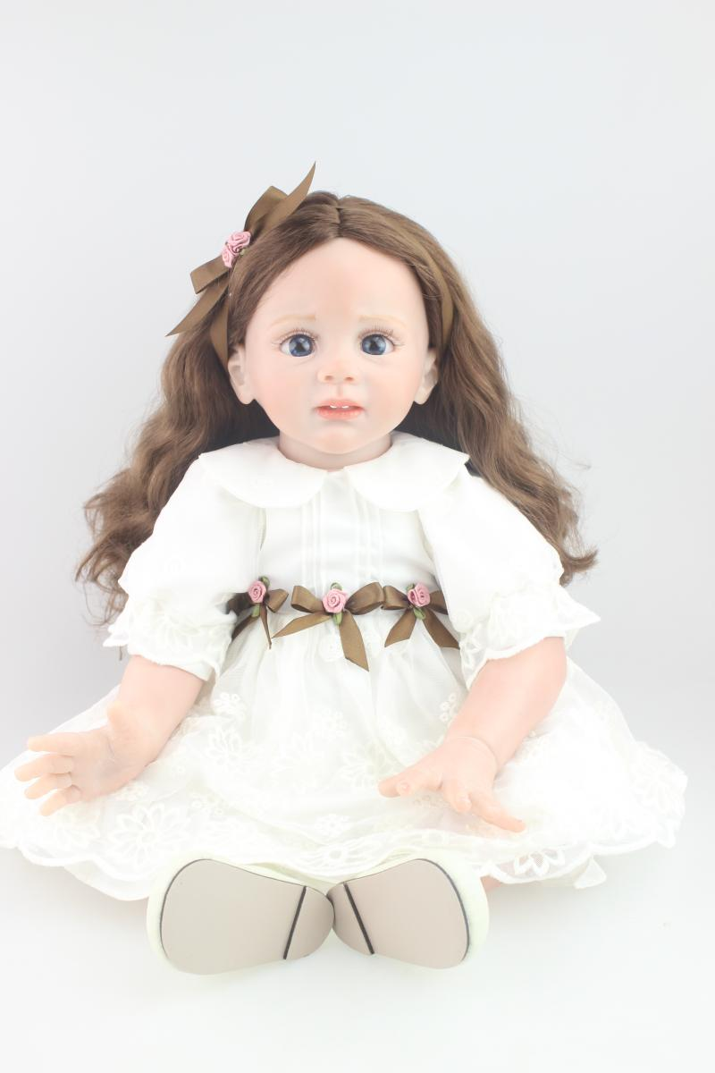 Silicone Simulation Lovable Reborn Doll With Pink Dress
