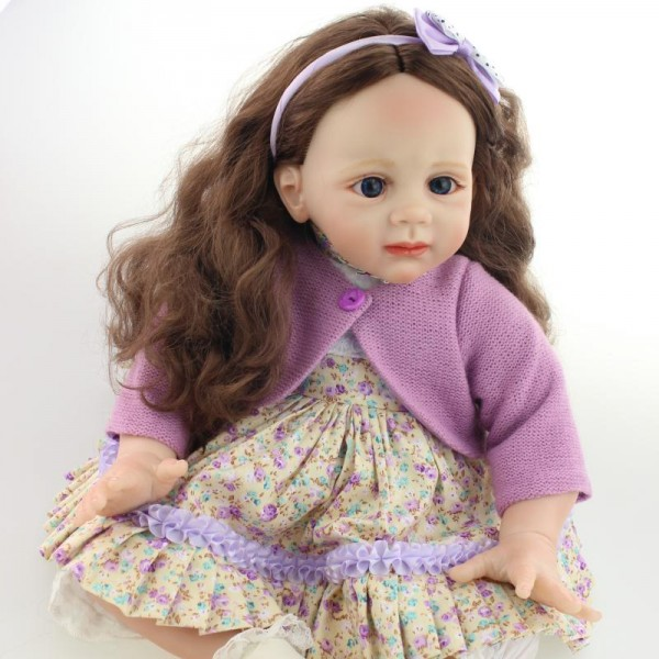 fb8cd35d2 ... Girl   Big Handmade Doll For Kids 24″ 60cm Realistic Soft Silicone  Reborn Baby Dolls. D2. D2  so truly real baby dolls2 ...