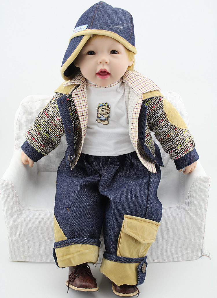 High Quality 60cm Realistic Reborns Baby For Boy Gift